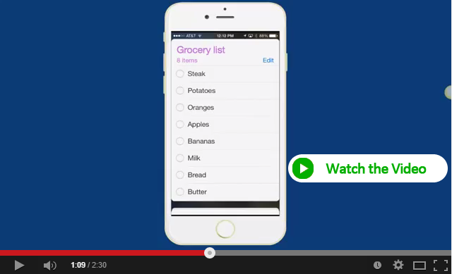Share your grocery list with iPhone Reminders